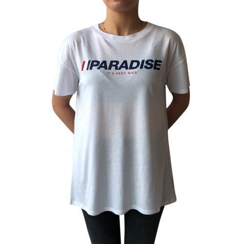 PARADISE BASKILI KADIN T-SHIRT